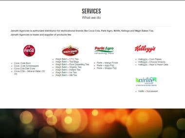 Website for Jainath Agencies