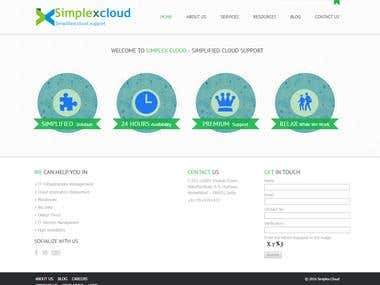 Website For Simplex Cloud