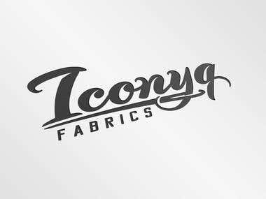 Typography logo for a fabric store