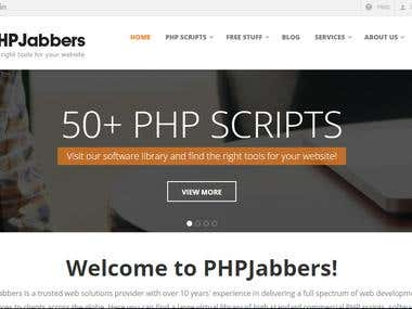 Full contact form of PHP jabbers our own product