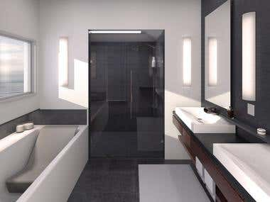 Bathroom Design  & Rendering