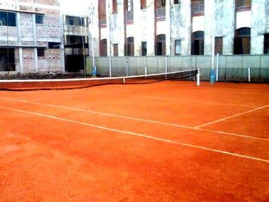 Construction of a Lawn Tennis Court