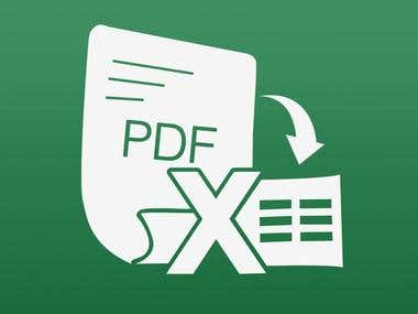 PDF to Excel/MS-word Convert