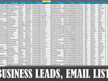 Business  Leads Email list