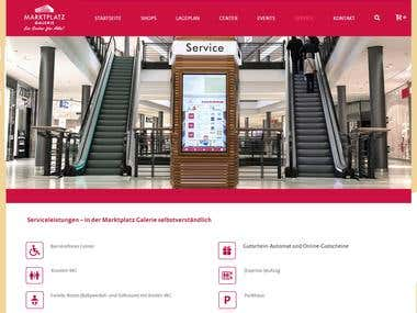 Wordpress Hompage of Shopping Center