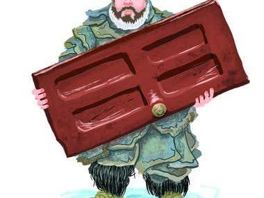 Hodor Holing door