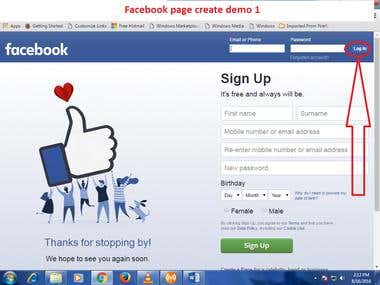 Facebook marketing demo
