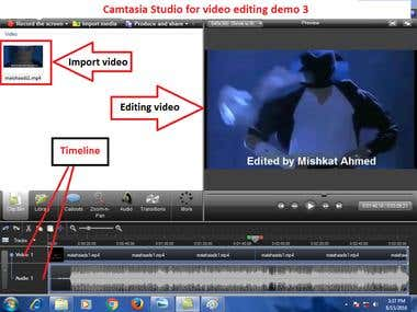 Video editing demo