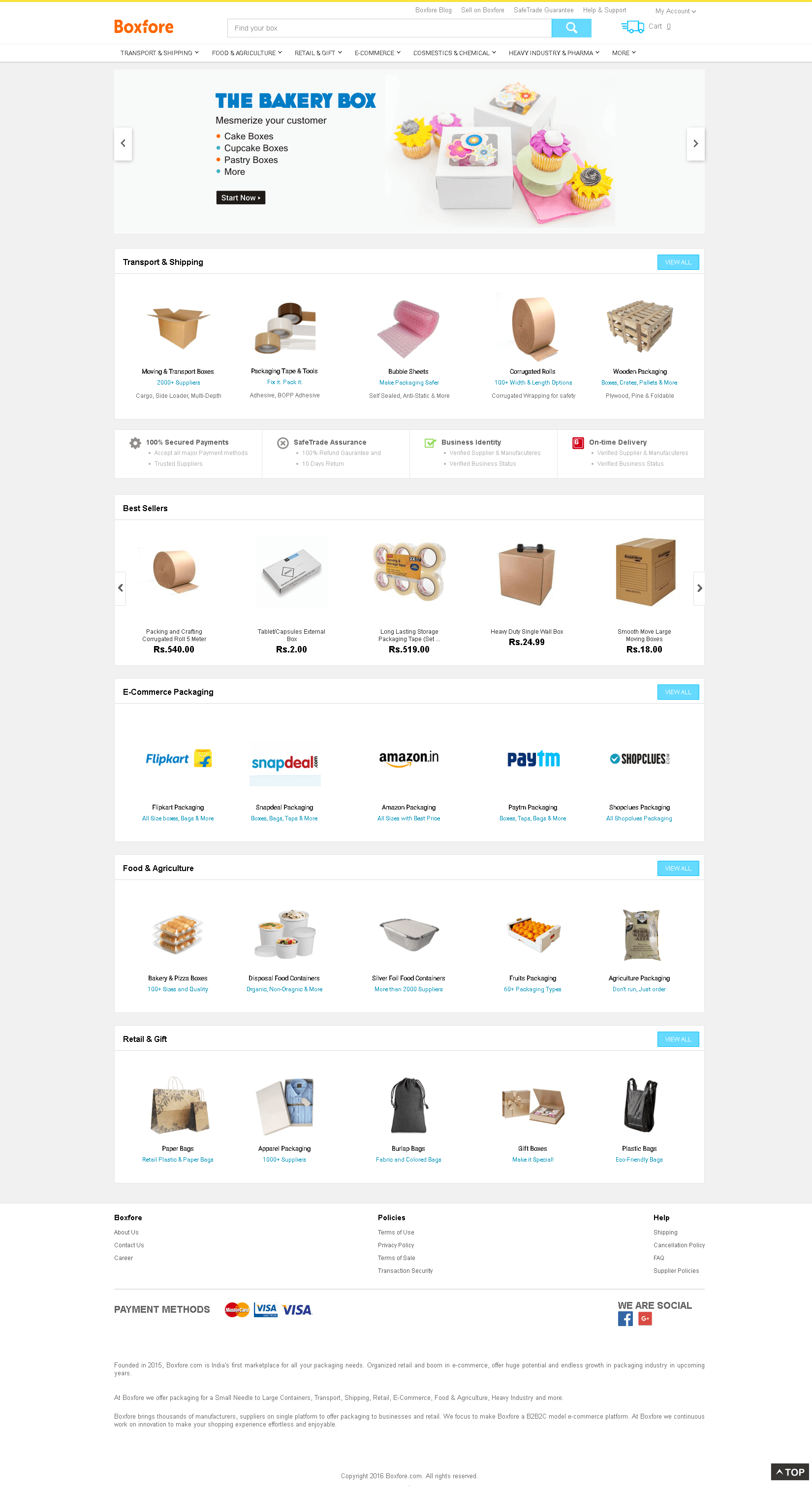 Boxfore.com: Boxes, Food, Retail, Heavy Industry Packaing...