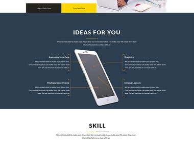 Bela One page template