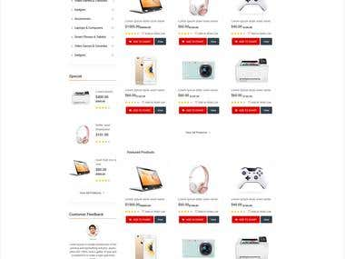 Ecoomerce Website design and built in Magento
