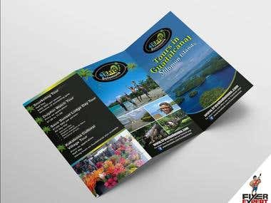 Tri-Fold A4 Brochure for a Tourism company.
