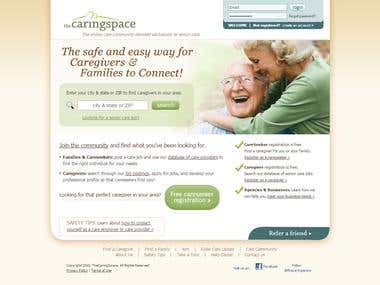 Senior Care website