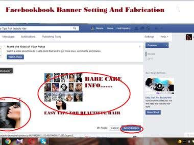 fanpage febrication and banner setting