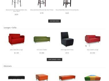 Commercial Furniture  E- Commerce Website