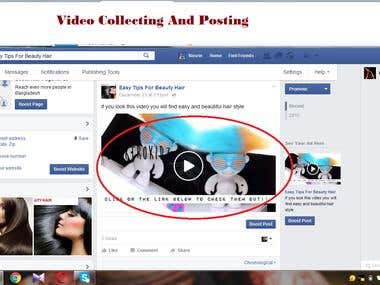 video collecting and posting