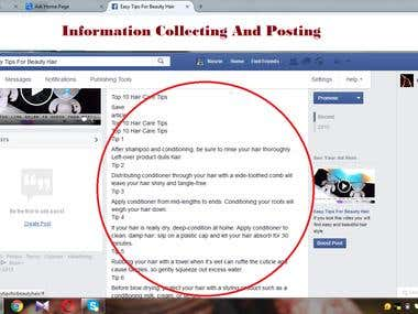 information collecting and posting