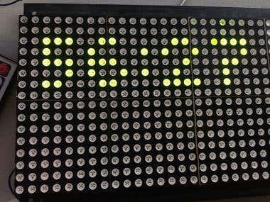 Countdown Timer on a Dot Matrix