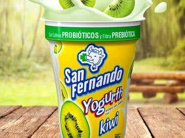 Yogurth Kiwi San Fernando
