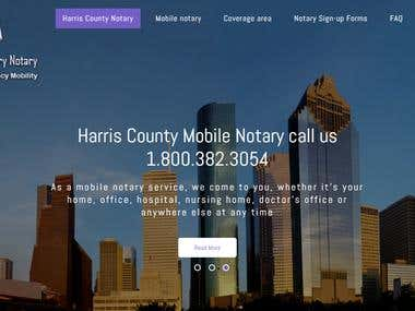 Harris County Mobile Notary Website(Wordpress)