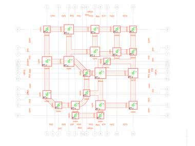 Structural Foundation Plan (G.A)