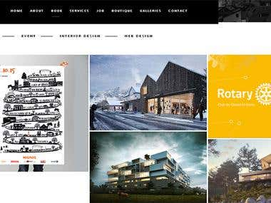 A Portfolio WordPress Site