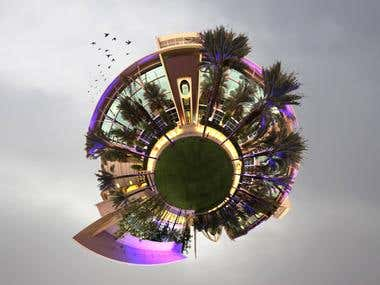 Stereographic projection of Alfaisal University