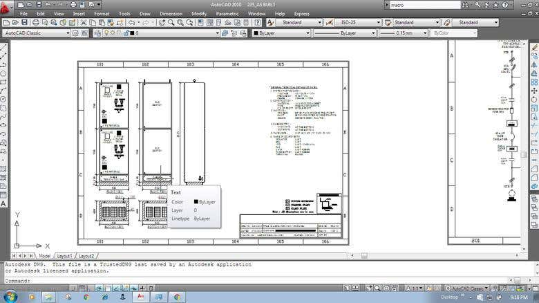 MOTOR CONTROL VFD PANELS DRAWINGS IN AUTOCAD | Freelancer