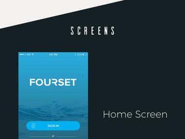 FOURSET Plumbing App UI design