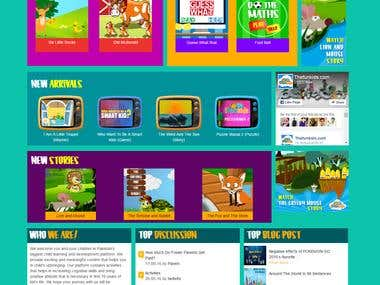Website designed & developed for 'The Fun Kids'