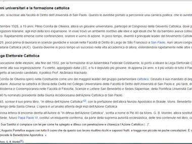 Wikipedia page sample