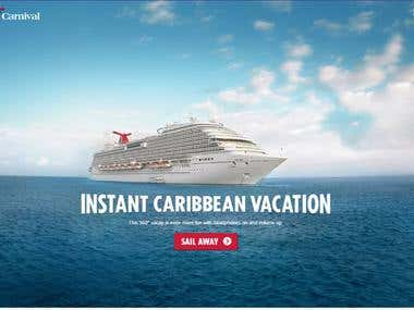 Travel and Tourism Website, Vacations, Holidays Booking