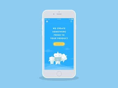 Landing Page for Mobile