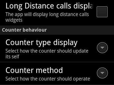 Call Meter application for Android