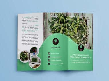 Trifold Flyer for Vertical Garden Plants