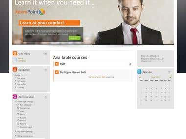 Learning Management System in moodle