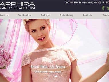 Sapphira Spa & Salon - Web Project
