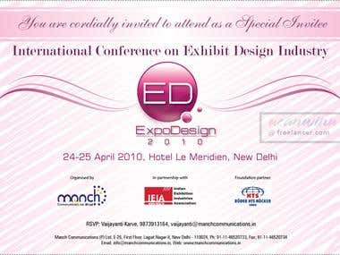 Invitation card design for a conference