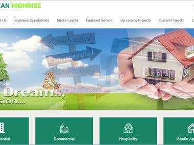 Website of a Real Estate Company of Kolkata