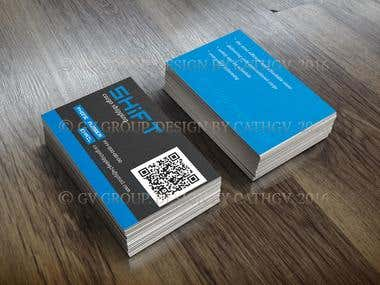 Business card for delivery company