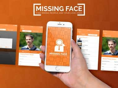 Missing Face App Mockup Design