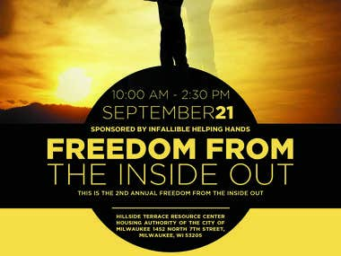 Flyer for Freedom from the Inside Out Organisation