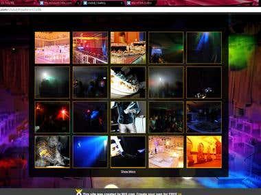 Wix Design | HTML5 Club DJ Official Website