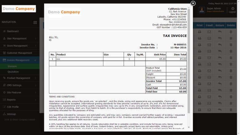 Invoice & Inventory Management System   Freelancer