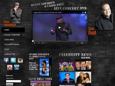 Web Design and Development of USA Comedian's Website