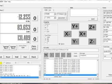 GCODE SENDER 1.2 (Grbl 0.9j) Arduino UNO