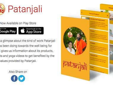 Patanjali Mobile App.