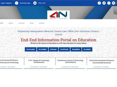 End-End Information Portal on Education