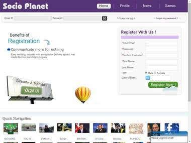 SocioPlanet- A Social Network Platform