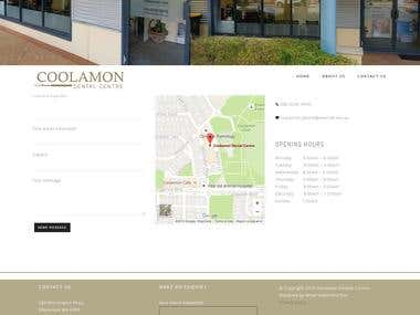 Wordpress website for dental clinic